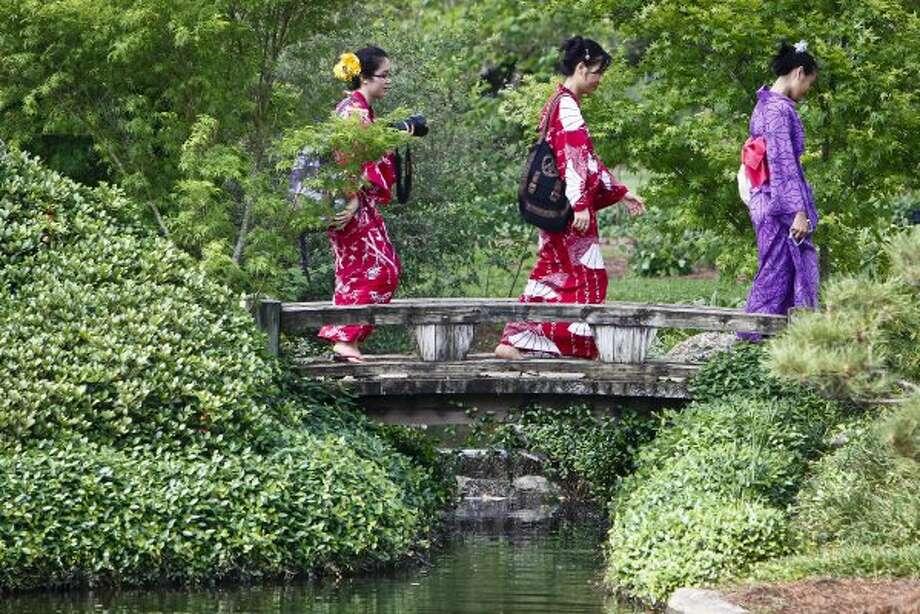 Recreate Hermann Park's Japanese Garden in your backyard.   (Michael Paulsen / Chronicle)