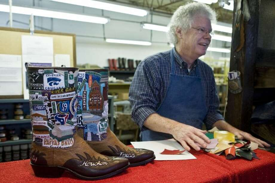 Get a pair of boots made from Wheeler Custom Boots. (James Nielsen / Chronicle)