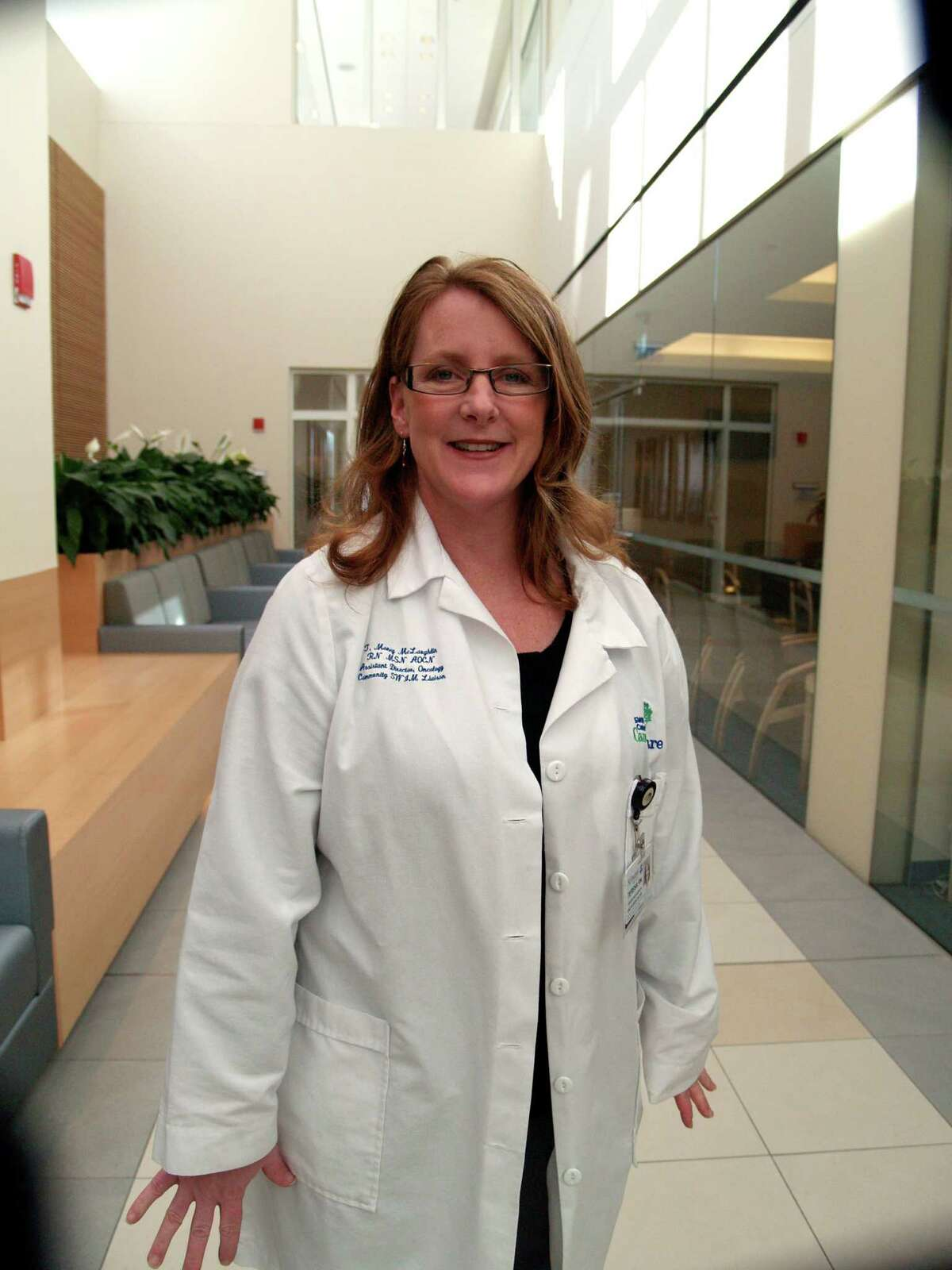 Teresa Money McLaughlin, director of integrative oncology at St. VincentâÄôs Medical Center in Bridgeport, Conn. is also a nurse navigator. Navigators help people through chronic disease management.