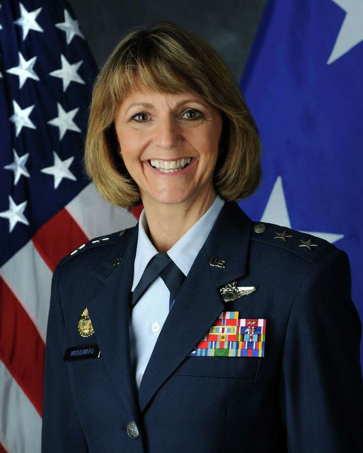 Maj. Gen. Margaret H. Woodward (seen in an undated photo provided Friday June 22, 2012) , acting Director, Operational Planning, Policy and Strategy, Deputy Chief of Staff, Operations, Plans and Requirements, Headquarters U.S. Air Force, Washington, D.C., has been placed in charge of investigating the growing sex scandal at Joint Base San Antonio - Lackland. / COURTESY OF THE USAF