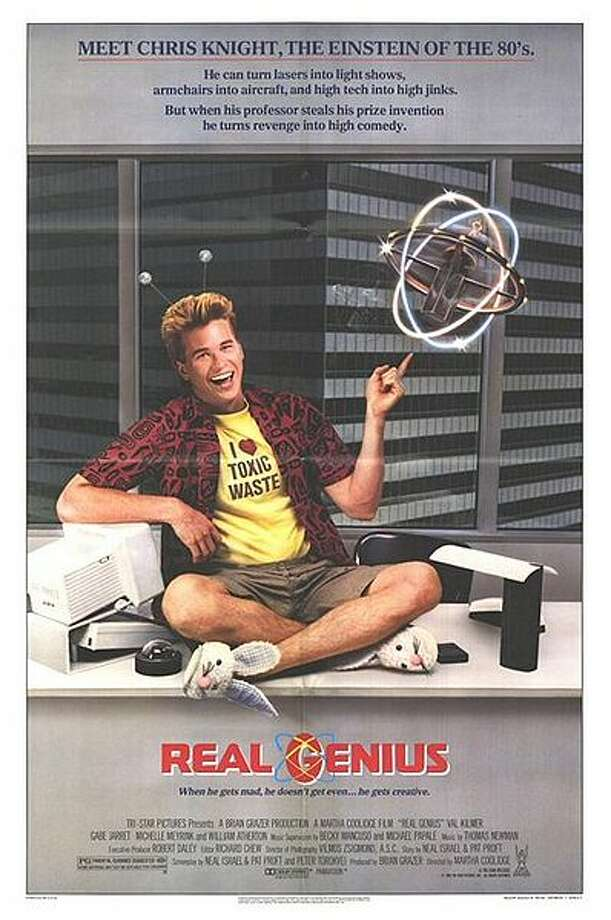 "We'll start with our favorite of the obvious choices: ""Real Genius."" It centers on a school for nerds, where the protagonist finds a cool role model (Val Kilmer), bests The Man and gets the girl. And there's a guy living in his closet. Photo: TriStar Pictures"