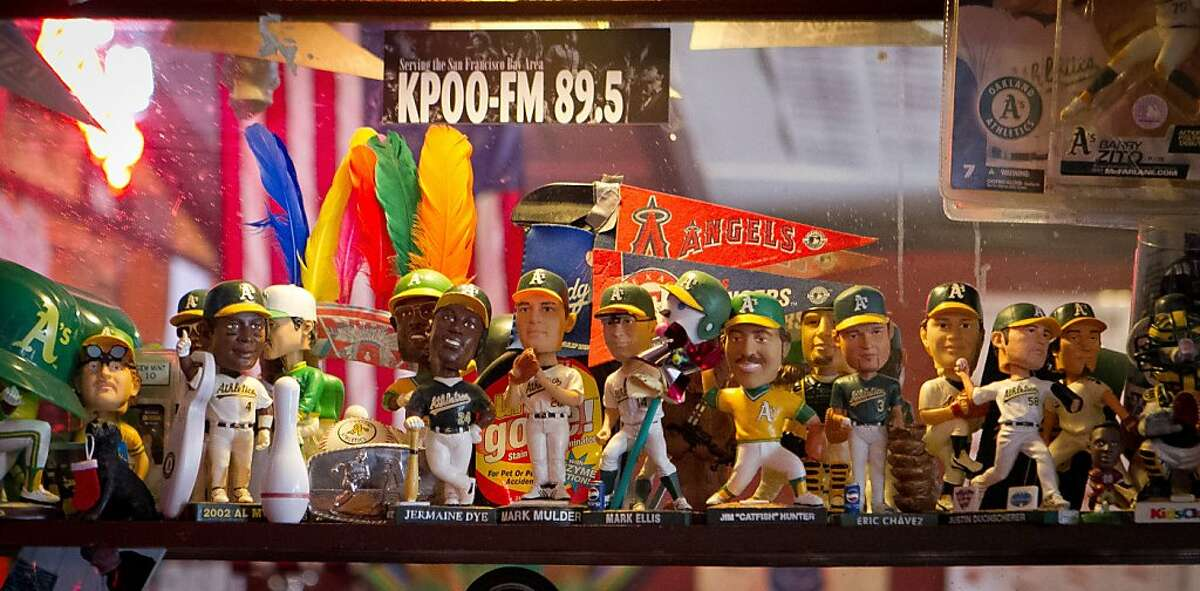 Bobbleheads at the Tee Off Bar & Grill in San Francisco, Calif., are seen on Saturday, June 9th, 2012.