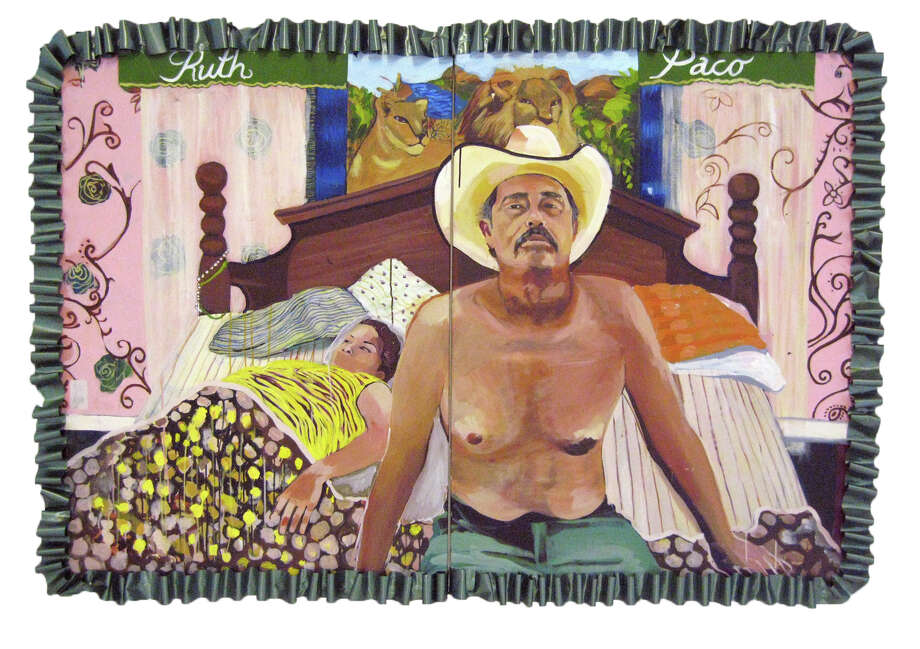 "Ruth Buentello's portrait of her parents is part of the exhibit ""Windows Into Our Community."" Photo: Courtesy, Centro Cultural Aztlan"