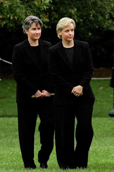 Mary Cheney, right, and Heather Poe. Photo: J. SCOTT APPLEWHITE / AP
