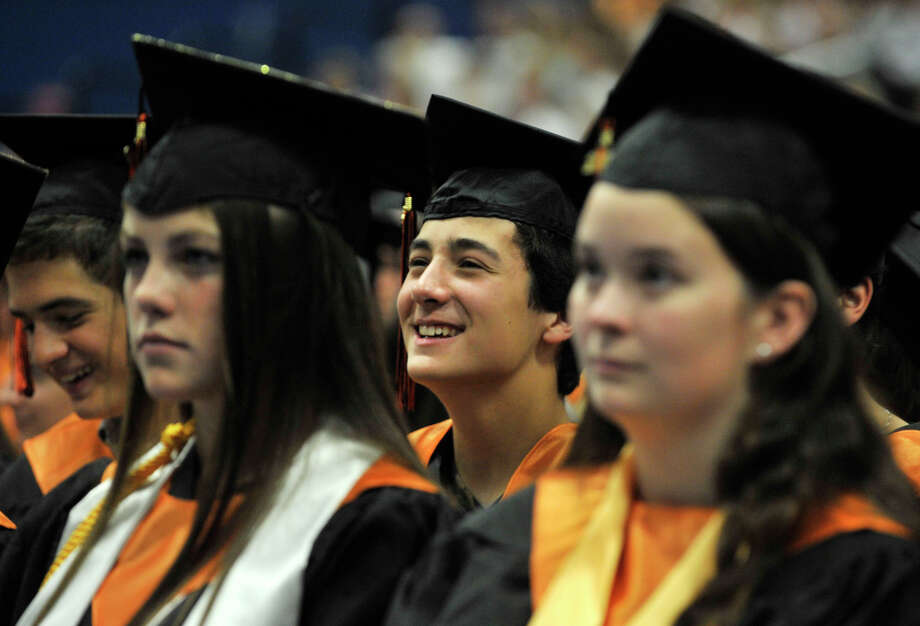 Scenes from the Ridgefield High School graduation at the O'Neill Center at Western Connecticut State University's westside campus on Friday, June 22, 2012. Photo: Jason Rearick / The News-Times