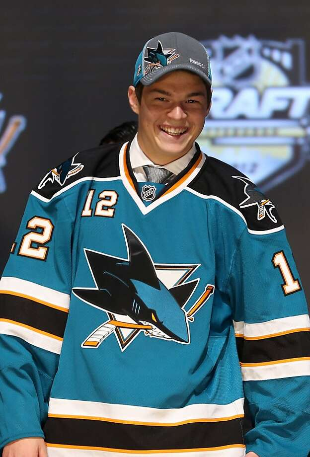 PITTSBURGH, PA - JUNE 22:  Tomas Hertl, 17th overall pick by the San Jose Sharks, poses on stage during Round One of the 2012 NHL Entry Draft at Consol Energy Center on June 22, 2012 in Pittsburgh, Pennsylvania.  (Photo by Bruce Bennett/Getty Images) Photo: Bruce Bennett, Getty Images