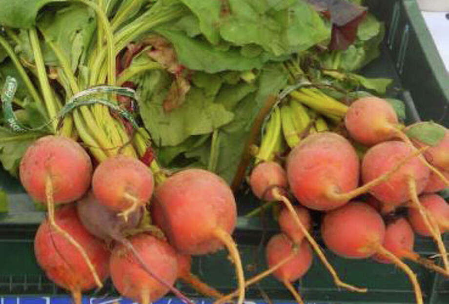 Bunches of fresh beets on offer at a local farmers' market. Photo: File Photo / Fairfield Citizen