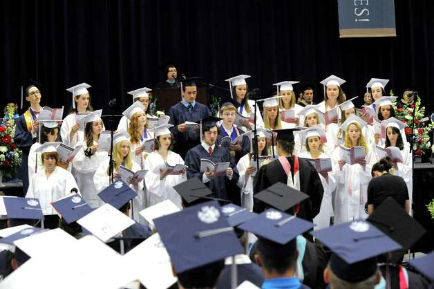 The New Fairfield High School graduation is held at Western Connecticut State University's O'Neill Center in Danbury Saturday, June 23, 2012. Photo: Michael Duffy / The News-Times