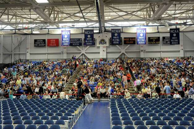 The New Fairfield High School graduation is held at Western Connecticut State University's O'Neill Center in Danbury Saturday, June 23, 2012. Photo: Michael Duffy