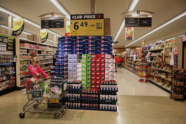 "A stack of sodas at a Safeway in San Francisco, California, on Thursday, June 21, 2012.  San Francisco mayor Ed Lee declared this summer to be ""soda-free"" this week. Photo: Liz Hafalia, The Chronicle"