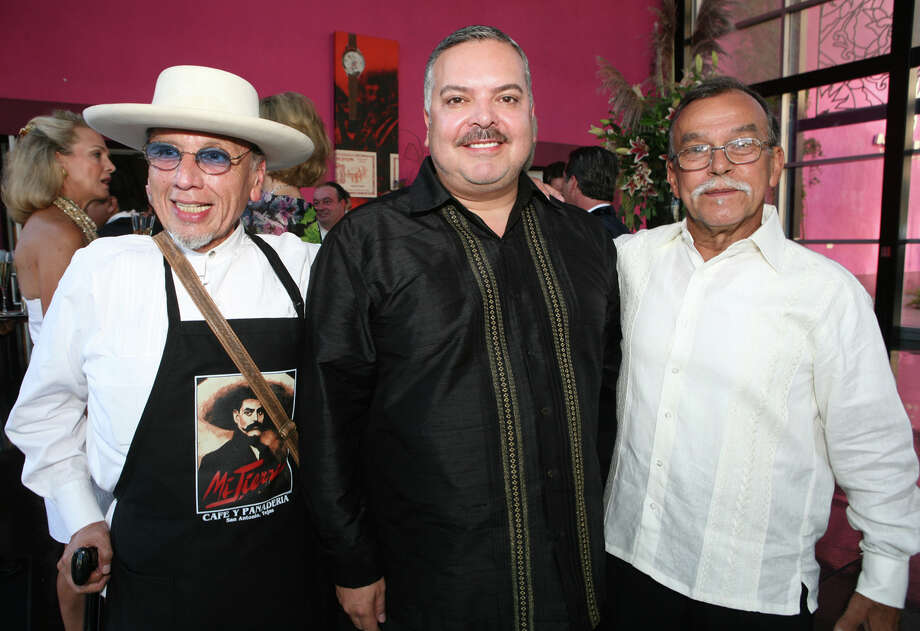 "George Cortez, Henry R. Munoz III and Jesse Trevino (All Co Founders of Museo Alameda) were at the ""Gala La Epoca De Oro"" 60th Anniversary of the Alameda Theater on 8/20/2009 at the Museo Alameda. Leland A. Outz/For the Express-News Photo: LELAND A. OUTZ, Express-News / SAN ANTONIO EXPRESS-NEWS"