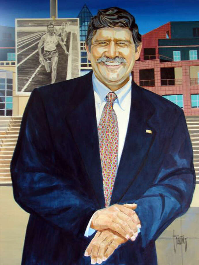 This is a photo of a portrait of UTSA president Ricardo Romo. Jesse Trevino was the artist. Courtesy Photo Photo: Express-News