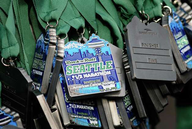 Thousands of medals wait to be given to runners. Photo: LINDSEY WASSON / SEATTLEPI.COM