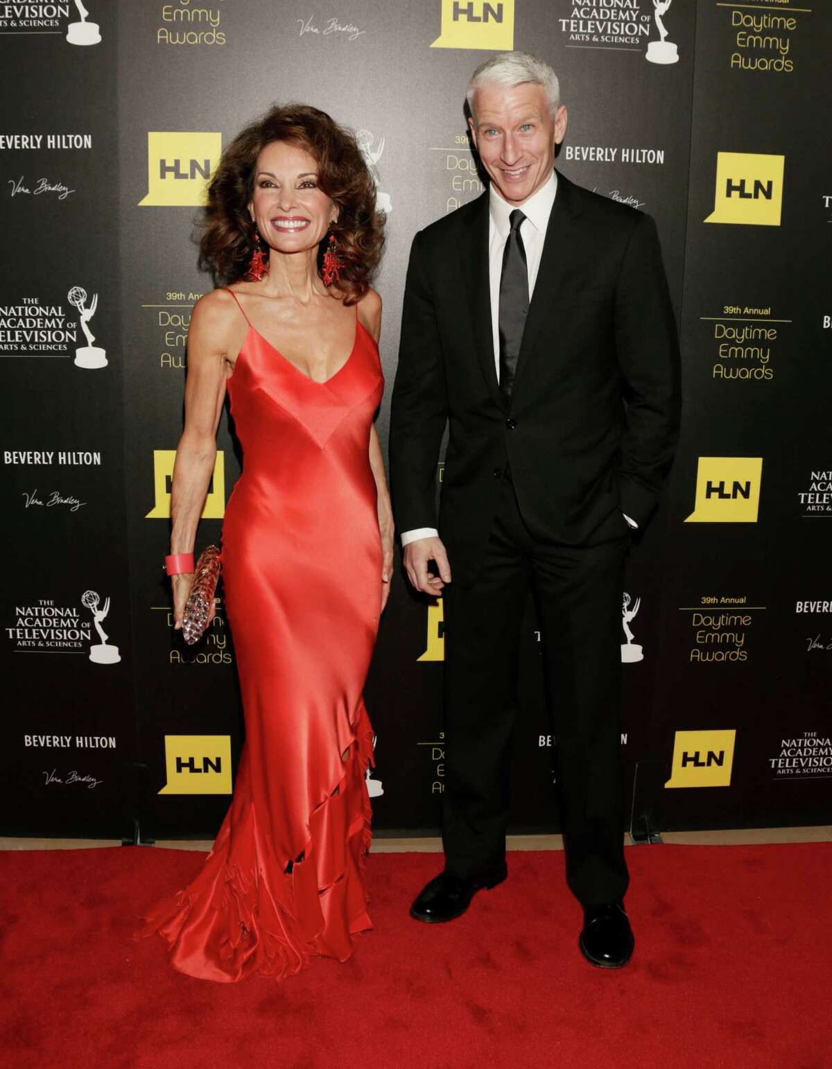 Susan Lucci, left, and Anderson Cooper arrive.