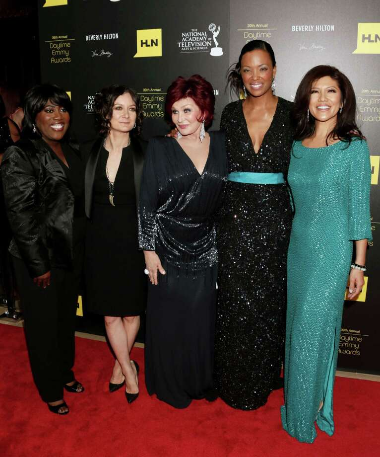 "Sheryl Underwood, from left, Sara Gilbert, Sharon Osbourne, Aisha Tyler and Julie Chen, of ""The Talk,"" arrive. Photo: TODD WILLIAMSON/INVISION/AP"