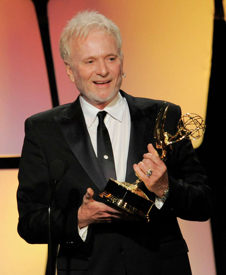 "Anthony Geary accepts the award for lead actor in a drama series for ""General Hospital"" onstage. Photo: CHRIS PIZZELLO/INVISION/AP"