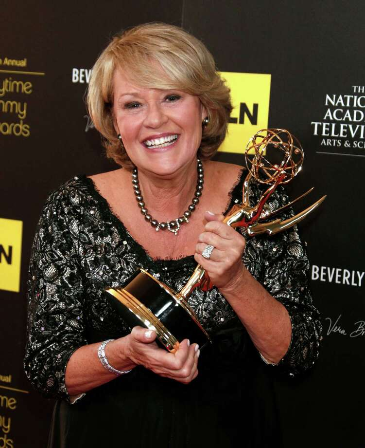 "Mary Ann Gunn poses backstage with the award for legal/courtroom program for ""Last Shot with Judge Gunn""  at the 39th Annual Daytime Emmy Awards at the Beverly Hilton Hotel on Saturday, June 23, 2012 in Beverly Hills, Calif. Photo: TODD WILLIAMSON/INVISION/AP"