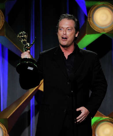 BEVERLY HILLS, CA - JUNE 23:  Actor Todd Newton accepts the award for Outstanding Game Show Host onstage at the 39th Annual Daytime Entertainment Emmy Awards at the Beverly Hilton Hotel on June 23, 2012 in Beverly Hills, California.  (Photo by Kevin Winter/Getty Images) Photo: Kevin Winter, Getty Images / Getty Images
