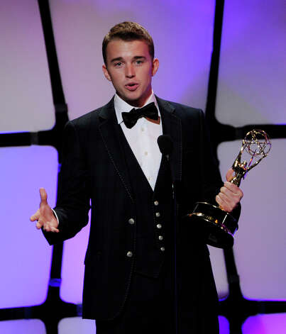 BEVERLY HILLS, CA - JUNE 23:  Actor Chandler Massey accepts the award for Outstanding Younger Actor at the 39th Annual Daytime Entertainment Emmy Awards at the Beverly Hilton Hotel on June 23, 2012 in Beverly Hills, California.  (Photo by Kevin Winter/Getty Images) Photo: Kevin Winter, Getty Images / Getty Images