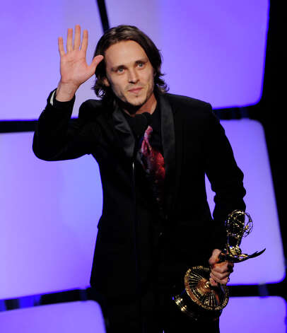 BEVERLY HILLS, CA - JUNE 23:  Actor Jonathan Jackson accepts the award for Outstanding Supporting Actor onstage at the 39th Annual Daytime Entertainment Emmy Awards at the Beverly Hilton Hotel on June 23, 2012 in Beverly Hills, California.  (Photo by Kevin Winter/Getty Images) Photo: Kevin Winter, Getty Images / Getty Images