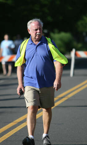 Steve Lobdell is the race director of the annual Stratton Faxon Fairfield Half Marathon in Fairfield, Conn. on Sunday, June, 24, 2012. Photo: B.K. Angeletti / Connecticut Post