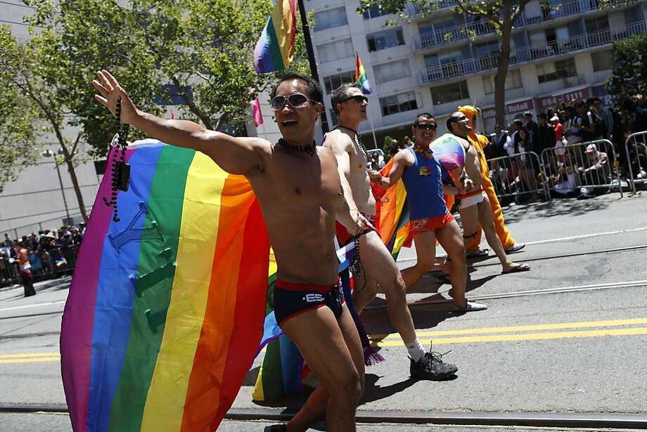 "The theme for this year's S.F. Pride Celebration & Parade is ""Embrace, Encourage, Empower."" Photo: Sonja Och, The Chronicle"