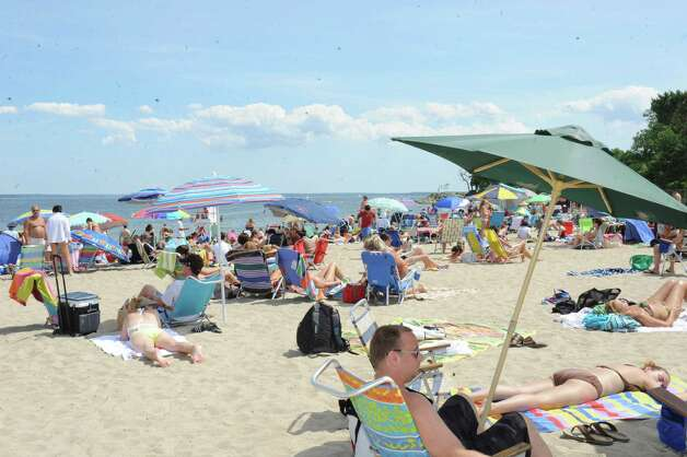 Greenwich Point beach during Experience the Sound Sunday, June 24, 2012. The sixth annual event was held by the Greenwich Shellfish Commission to coincide with the opening of the Bruce Museum's Seaside Center at the Innis Arden Cottage at Greenwich Point. Photo: Helen Neafsey / Greenwich Time