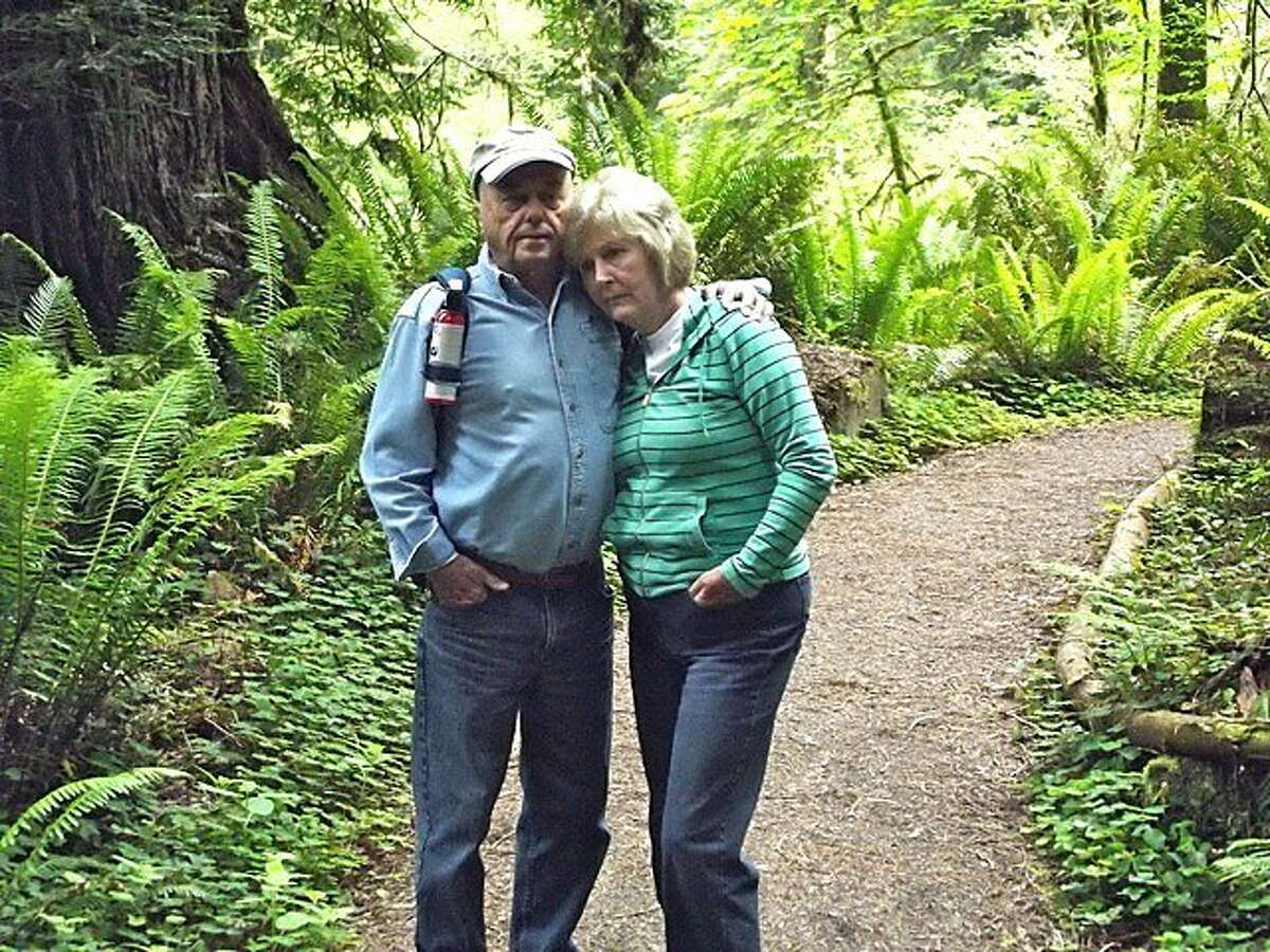 Jim Hamm, 75, left, survived a vicious mountain lion attack in January 2007 when his wife Nell, right, fought the animal off with an 8-foot log during a hike at Prairie Creek Redwoods State Park near Fortuna, California where the couple lives. The Hamm's were about 2 weeks from celebrating their 50th wedding anniversary when the attack occurred.