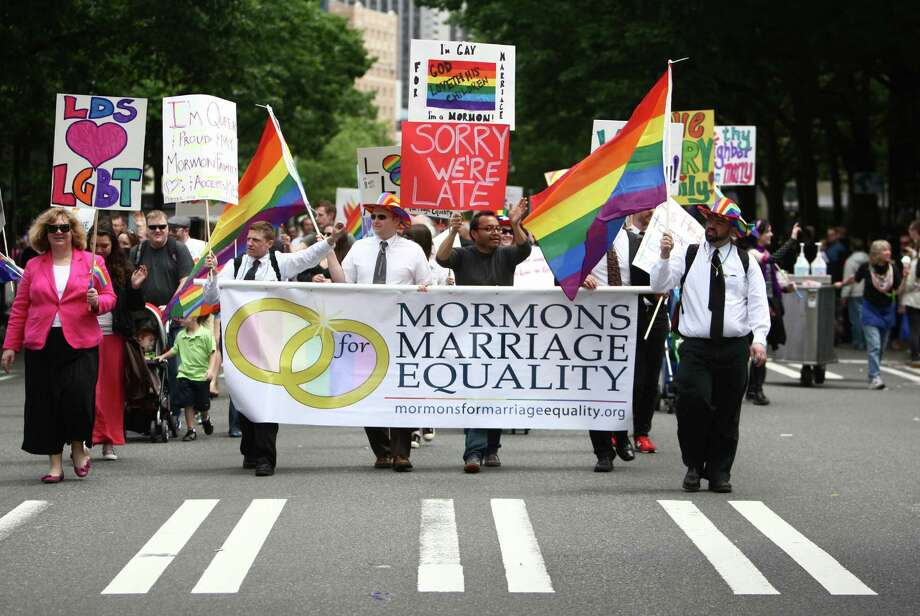 Members of Mormons form Marriage Equality march. Photo: JOSHUA TRUJILLO / SEATTLEPI.COM