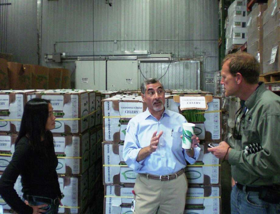 From left, Leslye Louie, Pat Guerra and Lyle Hurst discuss a project at the Second Harvest Food Bank of Santa Clara County in San Jose, Calif. All are alumni or Encore Fellows, which helps baby boomers get jobs with nonprofits. Photo: Brett Hurst / Civic Ventures