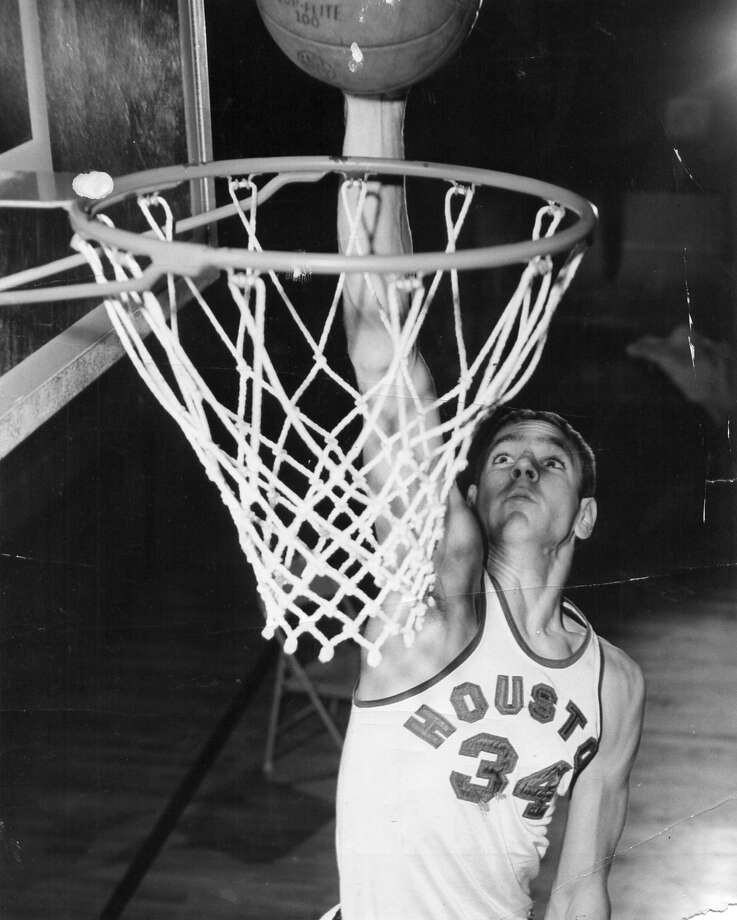 A co-captain, Ted Luckenbill starred on the first two winning teams for head coach Guy V. Lewis and was on the first UH team to win an NCAA Tournament game (1961). (Courtesy of UH Athletics)