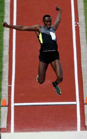 William Claye competes in the en's long jump finals at the U.S. Olympic Track and Field Trials Sunday, June 24, 2012, in Eugene, Ore. (AP Photo/Marcio Jose Sanchez) Photo: Associated Press