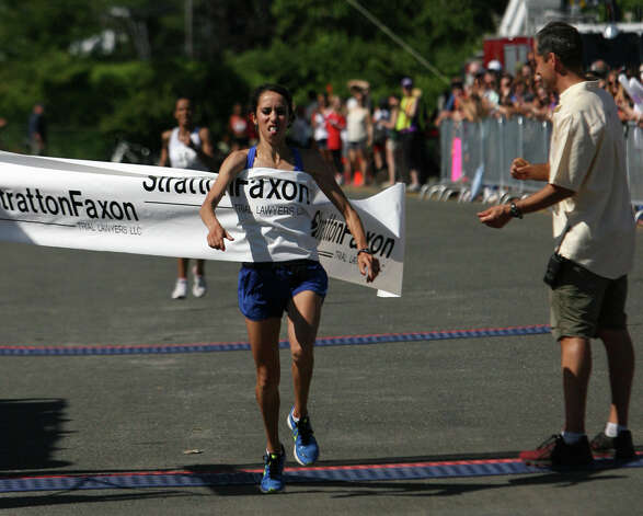 Malika Mejdoub, of Morocco, wins women's division of the annual Stratton Faxon Fairfield Half Marathon in Fairfield, Conn. on Sunday, June, 24, 2012. Photo: B.K. Angeletti / Connecticut Post