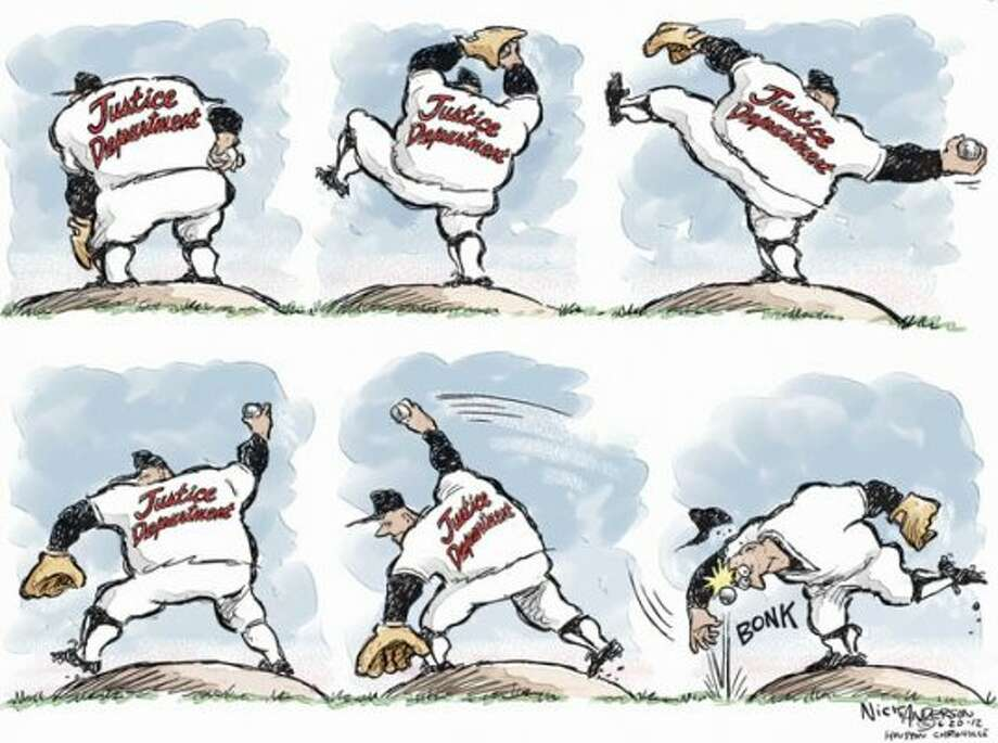 The Justice Department stumbles over the Clemens trial. (Nick Anderson)