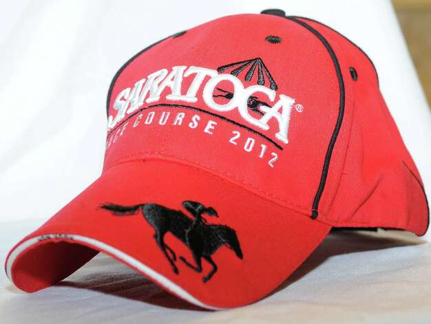 Baseball cap from 2012 Saratoga Race Course giveaways. (New York Racing Association photo)