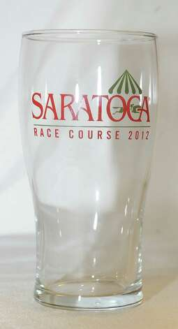 Pilsner glass, one of the 2012 Saratoga Race Course giveaways. (New York Racing Association photo)