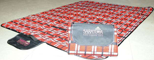 Picnic mat, one of the 2012 Saratoga Race Course giveaways. (New York Racing Association photo)