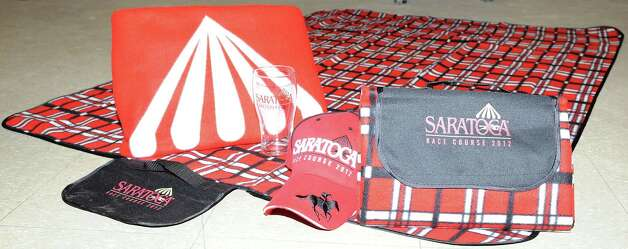 2012 Saratoga Race Course giveaways. (New York Racing Association photo)