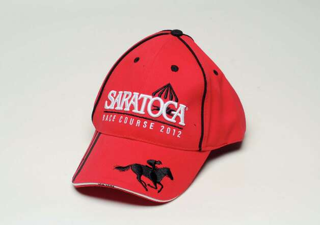 Saratoga baseball cap is the Saratoga Race Course giveaway for Sunday July 29, 2012. Photo taken Monday June 25, 2012 in Colonie, N.Y. (Will Waldron / Times Union)