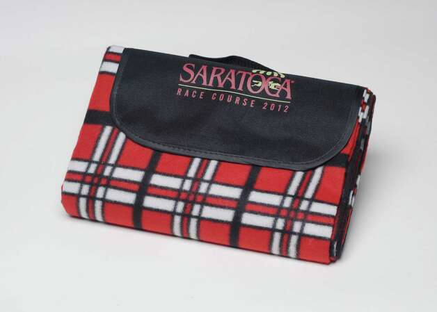Saratoga picnic mat is the Saratoga Race Course giveaway for Sunday Aug. 12, 2012. Photo taken Monday June 25, 2012 in Colonie, N.Y. (Will Waldron / Times Union)