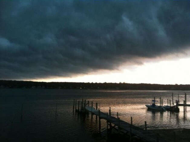 Storm clouds rolling over Pine Grove, Niantic.  Credit: Rich Oliver/WTNH Report It Photo: Contributed