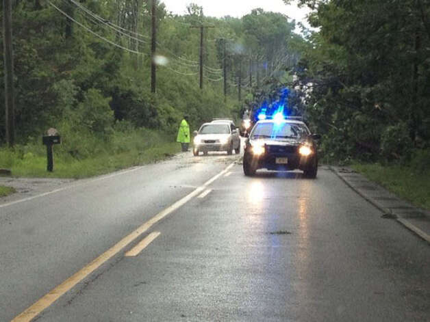 Tree down on 183 South in Torrington.  Credit: Jason/WTNH Report It Photo: Contributed