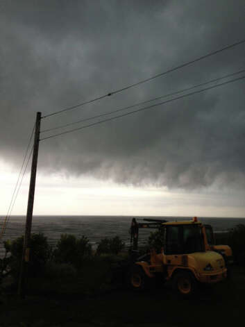 The edge of the storm at the shoreline in West Haven.  Credit: Erin Eberhardt/WTNH Report It Photo: Contributed