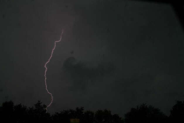An early morning lightning storm in Durham.  Credit: Tara Dandelski/WTNH Report It Photo: Contributed