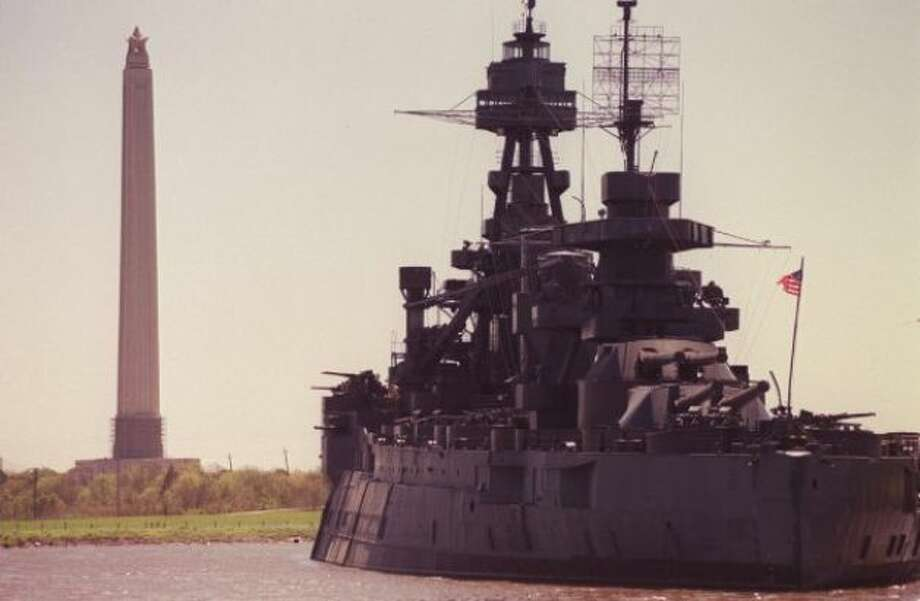 The USS Texas permanently docked off the Houston Ship Channel near the San Jacinto Monument where Texas independence was won from Mexico. (Joshua Trujillo / Houston Chronicle) / HC