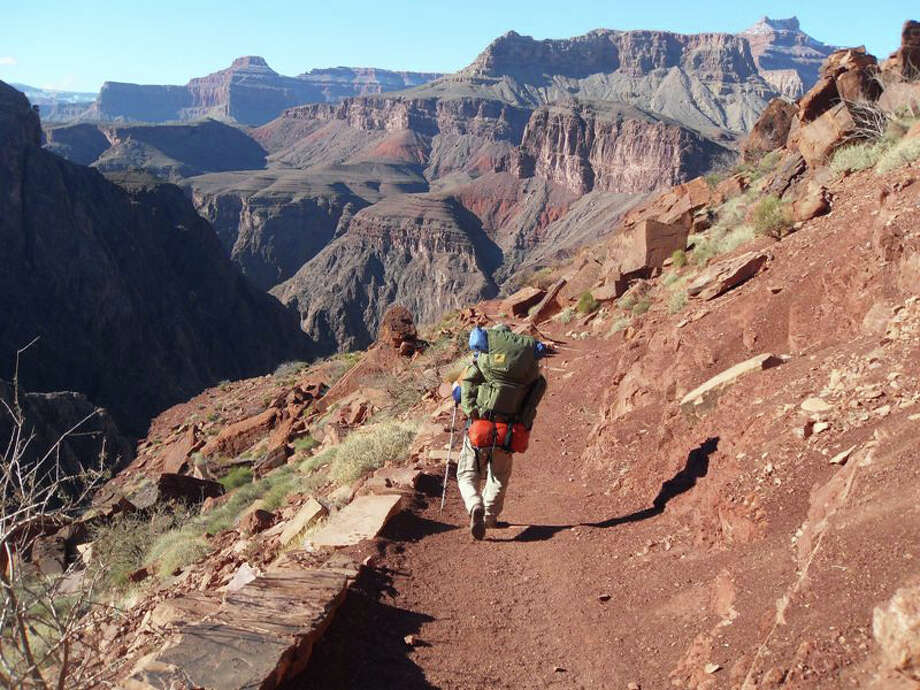 Richard Kempa hikes along the Kaibab Trail in the Grand Canyon. Photo: Contributed Photo