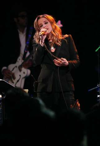 Lisa Marie Presley sings at Slim's in San Francisco on Sunday. Photo: Alex Washburn