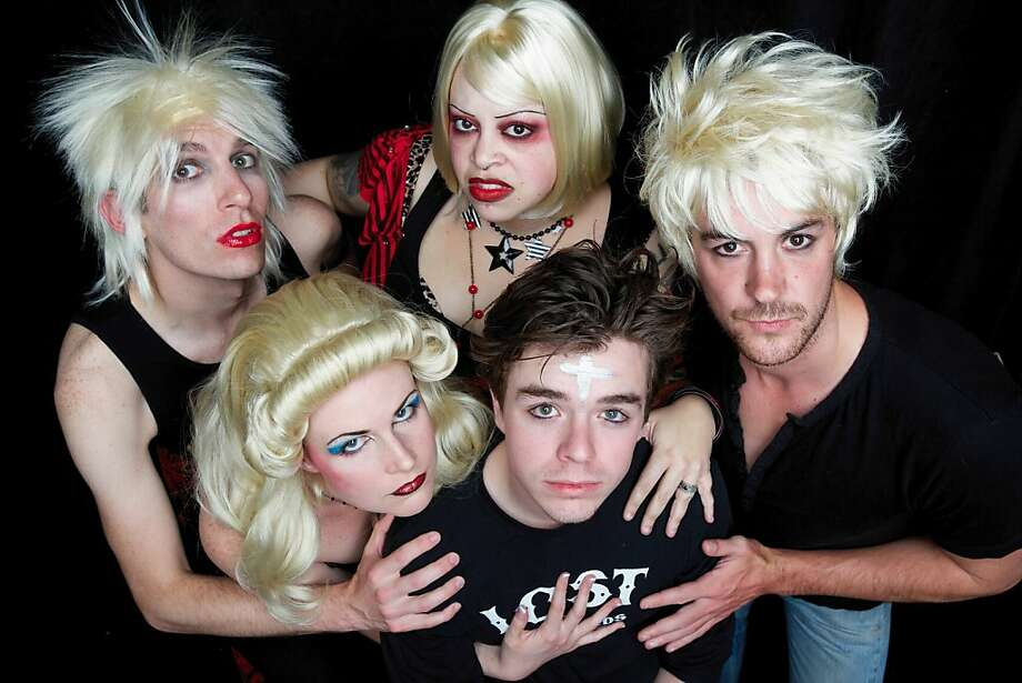 """The cast of """"Hedwig and the Angry Inch."""" Photo: Peter Liu"""