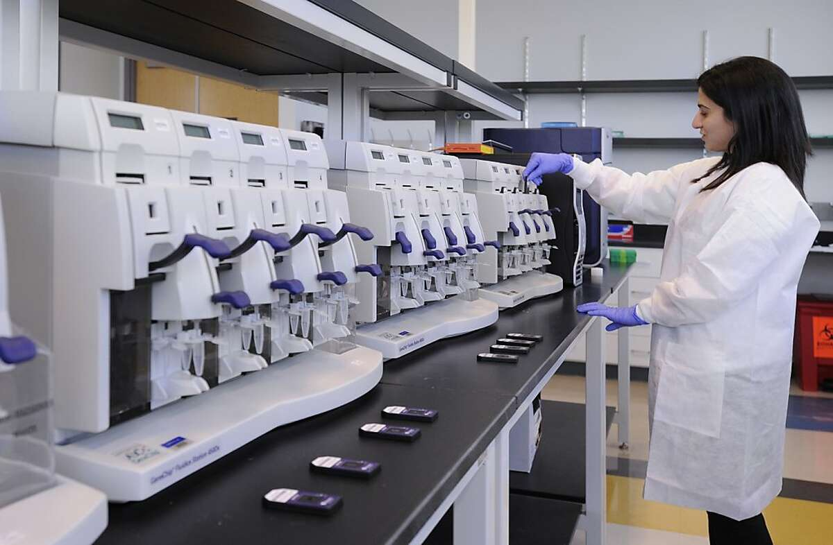 Samples being processed for Veracyte's Afirma Gene Expression Classifier at the company's laboratory in South San Francisco.
