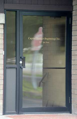The front door of the Troy, N.Y.  firm Capital District Beginnings at 597 3rd Avenue has been called out by the office of Comptroller Tom DiNapoli for $831,244 billed to the state for the two fiscal years ending in June 2010 ?for services for no-show executives, inappropriate staff bonuses and other costs, including more than $40,000 for vehicles including one for the director who lives out of state.?  (Skip Dickstein / Times Union) Photo: SKIP DICKSTEIN / 00018226A
